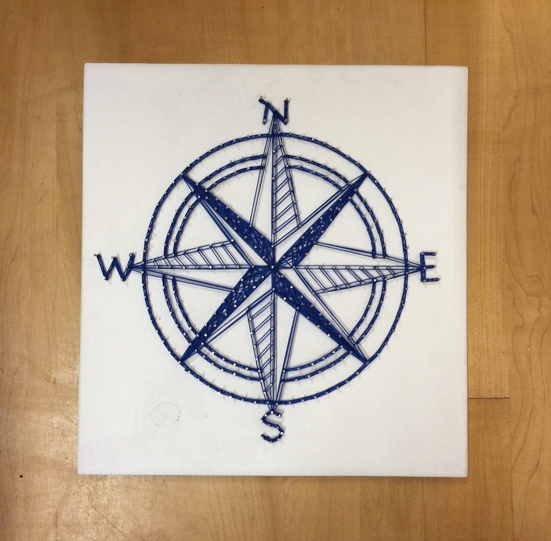 Nautical Compass String Art