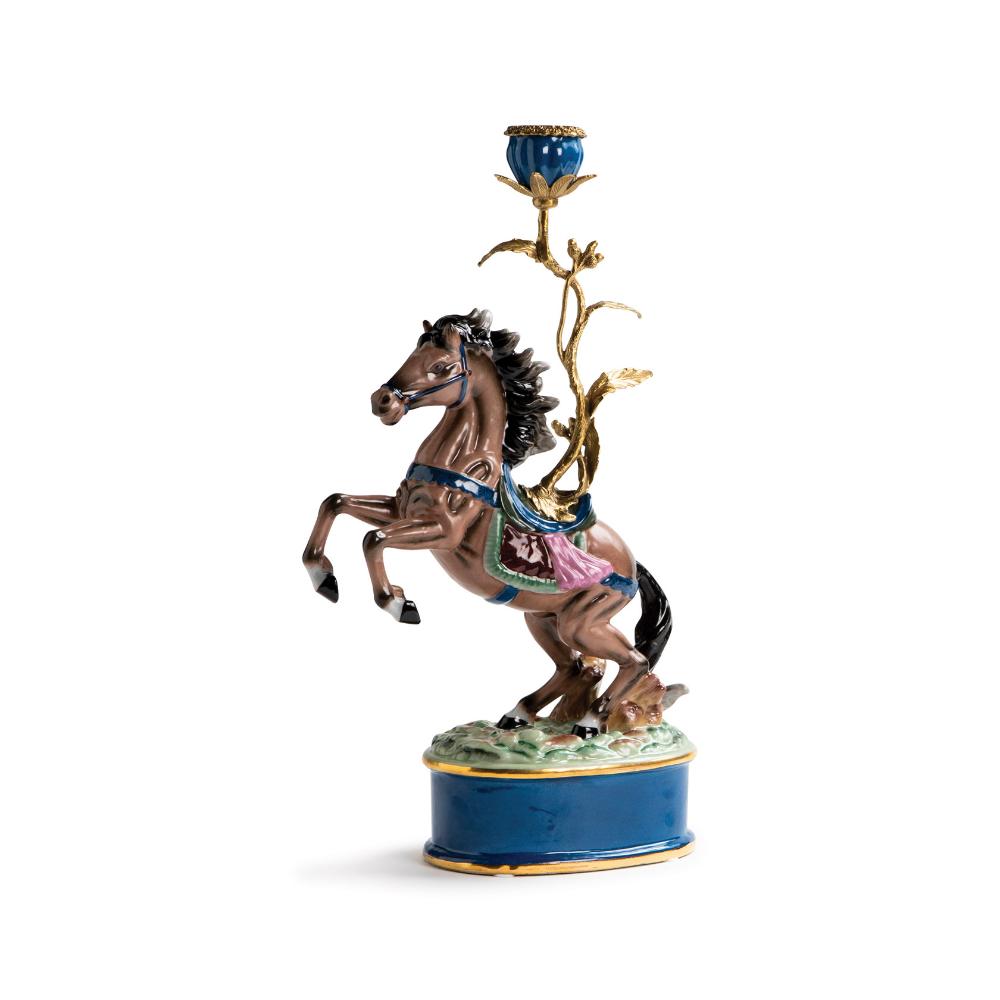 K Kandelaar Paard Klevering Kandelaar Paarden Vintage