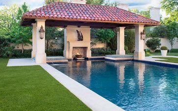 Dallas Italinate Residential Garden   Mediterranean   Pool   Dallas    Conservation Grass