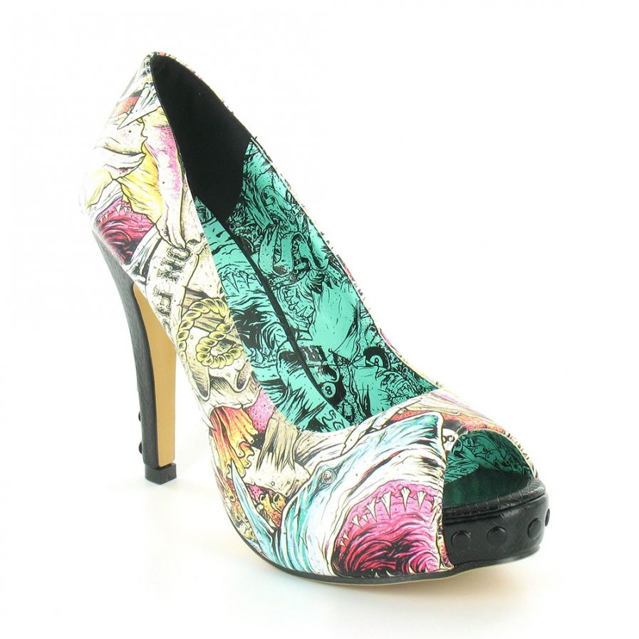Iron fist here i lie womens high heel peep toe also - My peep toes ...