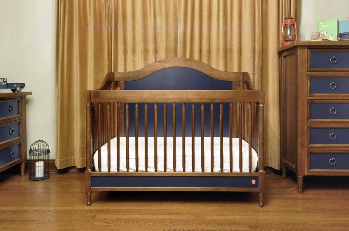 solid wood baby furniture. Amusing Rustic Baby Cribs : Astonishing Brown Finish Solid Wood Crib With Curved Frame Moulding Furniture R