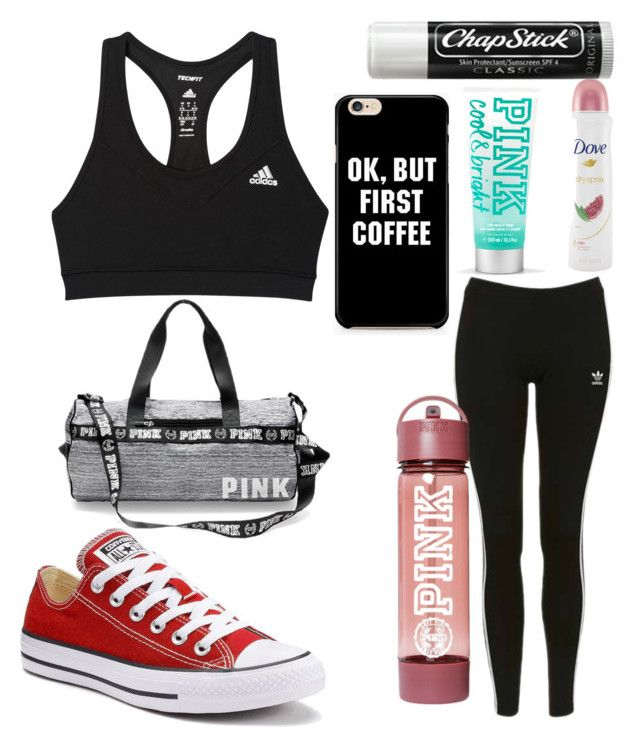 """Untitled #9205"" by ohnadine on Polyvore featuring adidas, Topshop, Chapstick, Converse and Dove"