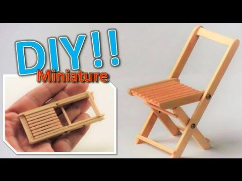 Diy X2f How To Make A Miniature Folding Chair Actually Works Youtube Doll House Miniature Diy Dollhouse Tutorials