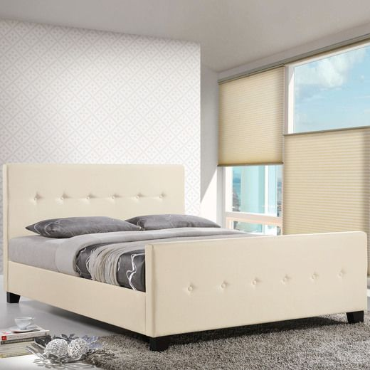 Modway Abigail Queen Bed in Ivory   The Great Modway Collections ...