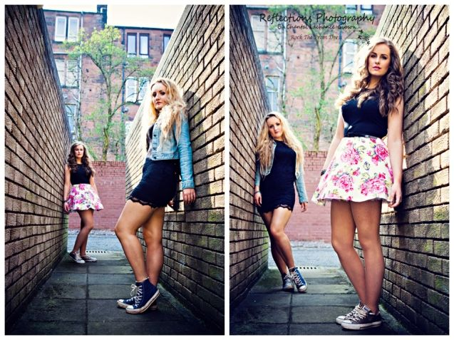 Great Posing Composition For A Best Friends Session