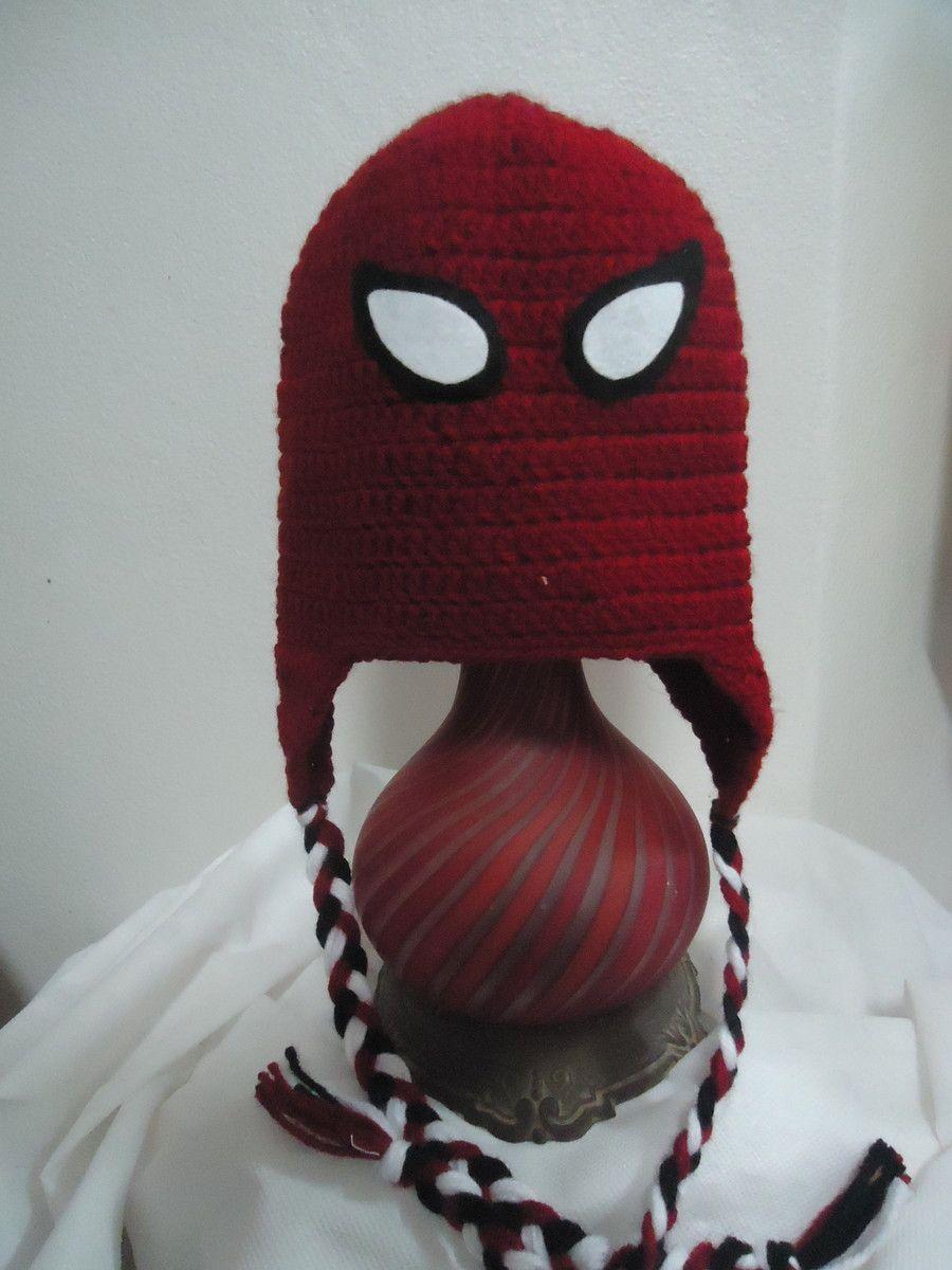 Touca inspirada no desenho dos Super Heróis.  br Touca de croche  confeccionada com 29f1c0aad98