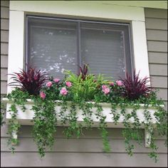 Filling Window Bo With Artificial Outdoor Plants