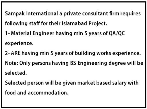 Sampak International a private consultant firm required following - marketing consultant job description