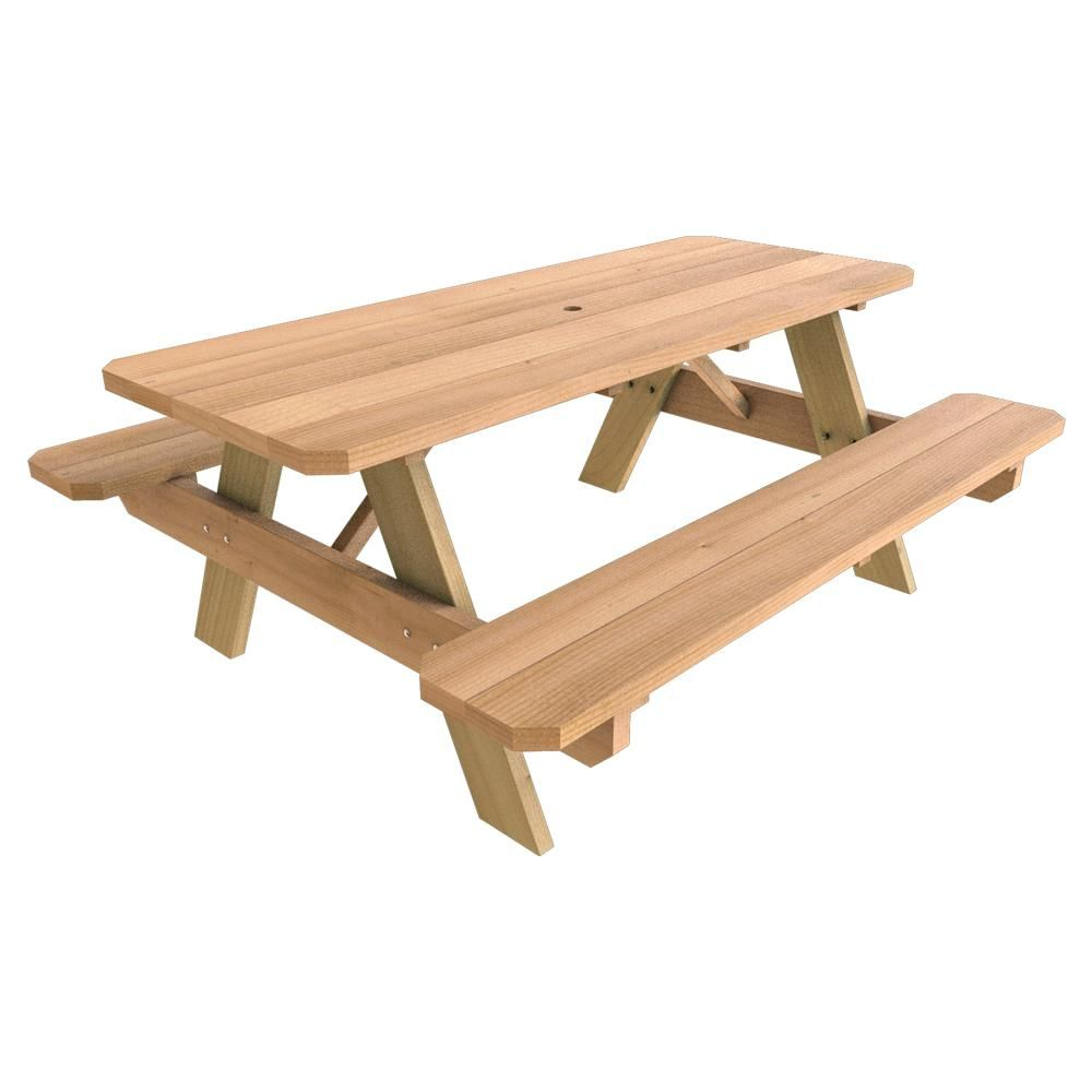 Null in x in wood picnic table in garden pinterest
