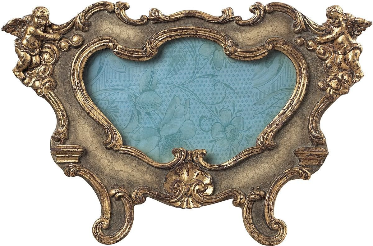 """0-027783>10""""""""h Florintine Picture Frame Sussex Stone With Gold"""