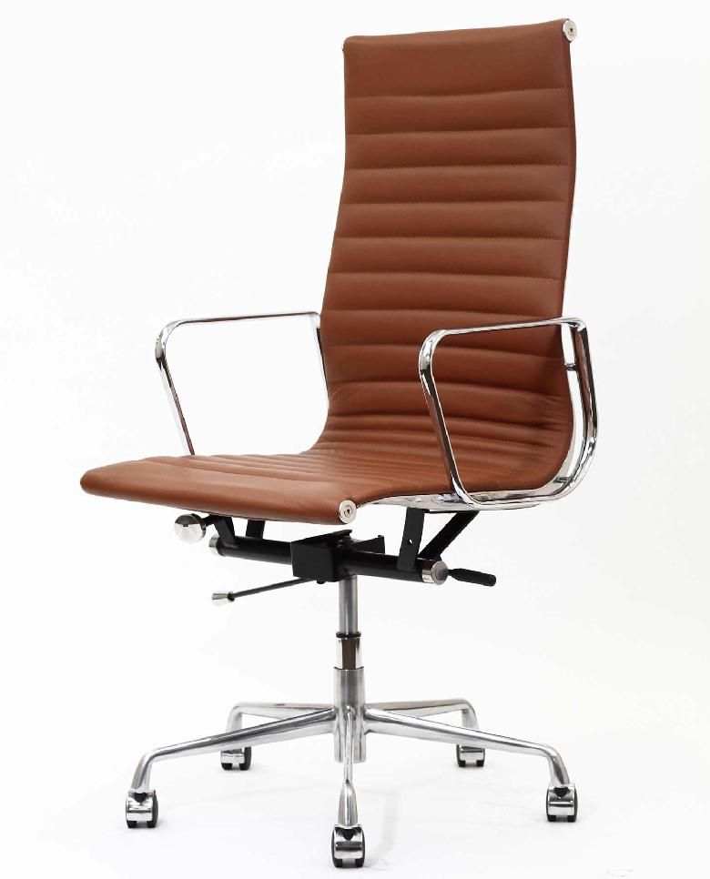 Classic High Back Leather Office Chair: This Modern Classic Is A  Reproduction Of The