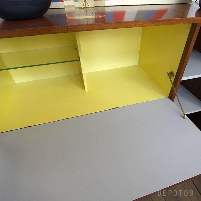 industrial wood metal kast wandkast boekenkast vintage gent | jos de ...