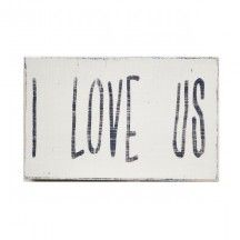 """I Love Us"" Wall Decor"