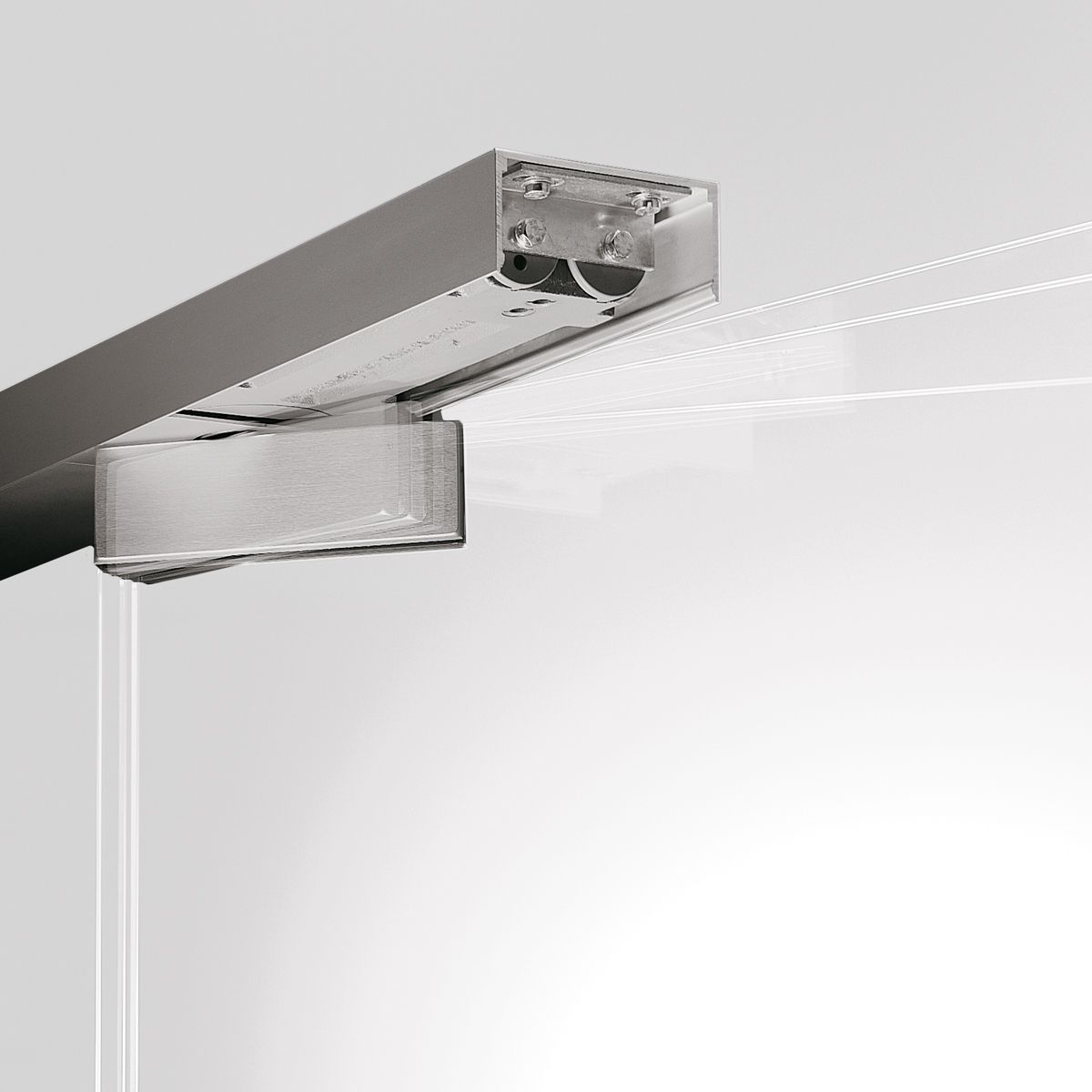 With Concealed transom Door Closer & DORMA RP | Patch Fittings for Double Action Doors with Transom ...