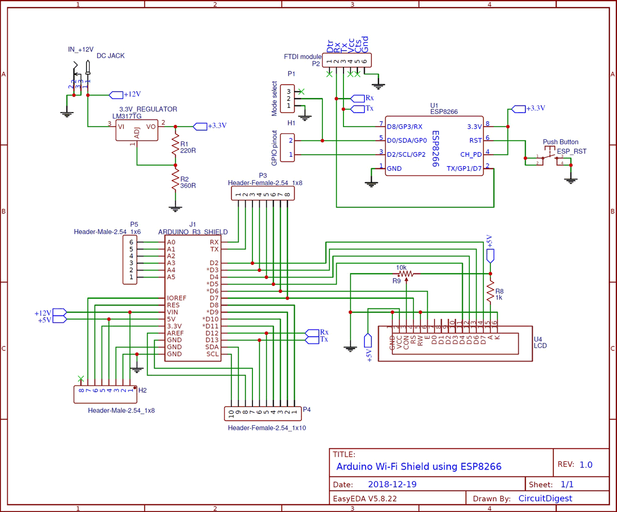 Circuit Diagram For Voice Controlled Home Automation Using Esp8266