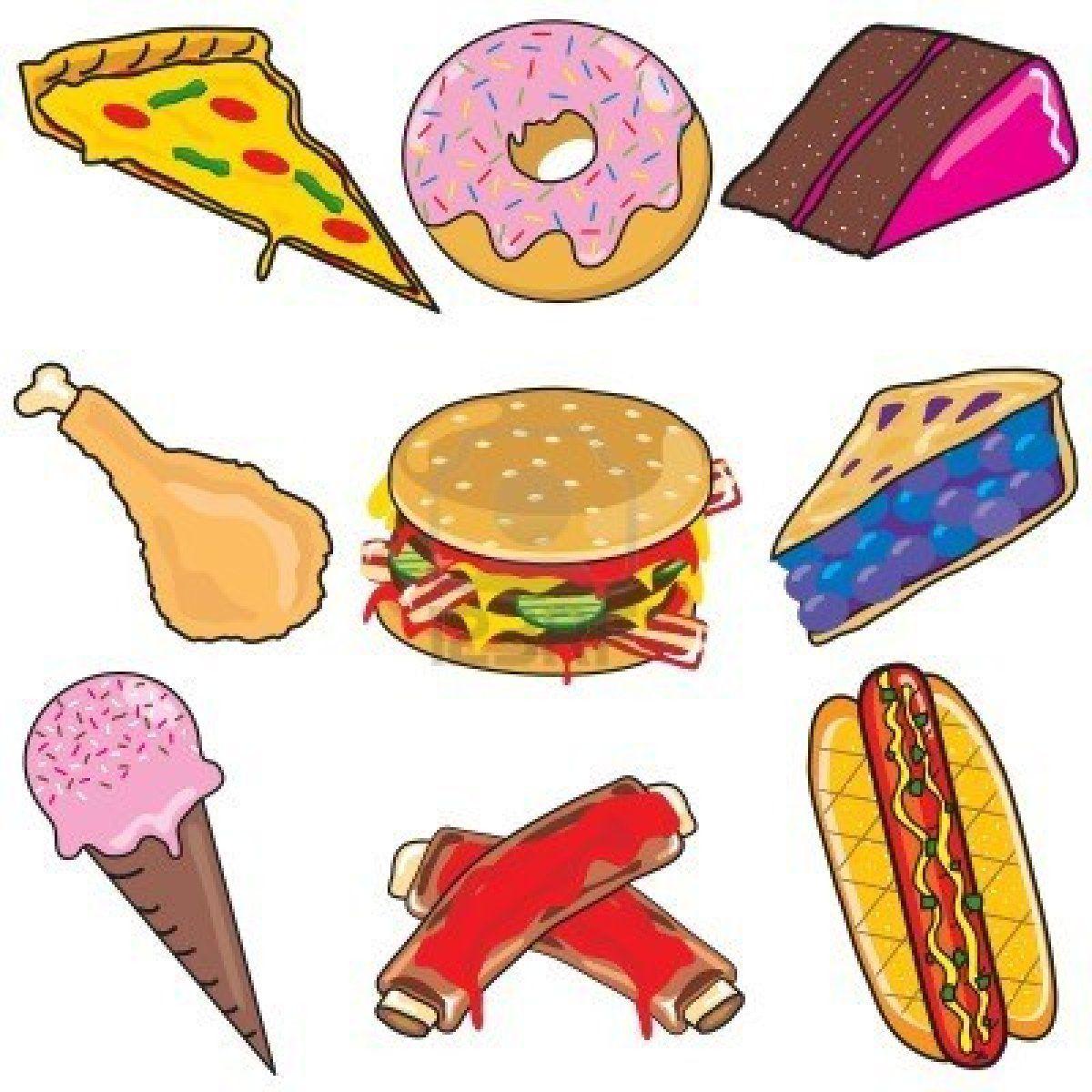 Yummy Food Food Cartoon Unhealthy Food Pictures Cute Cartoon Food