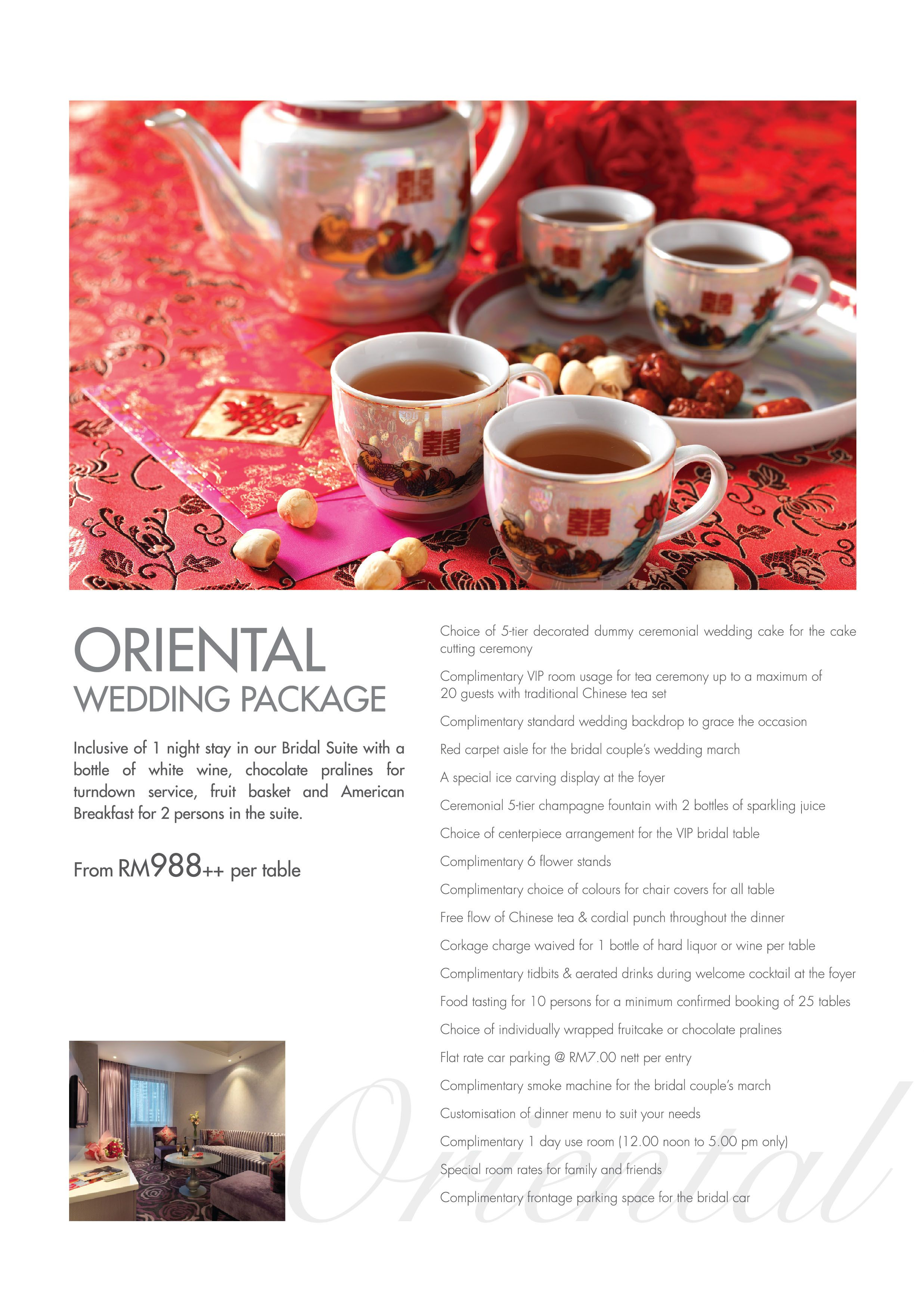 Oriental Wedding Package In Sunway Putra Hotel