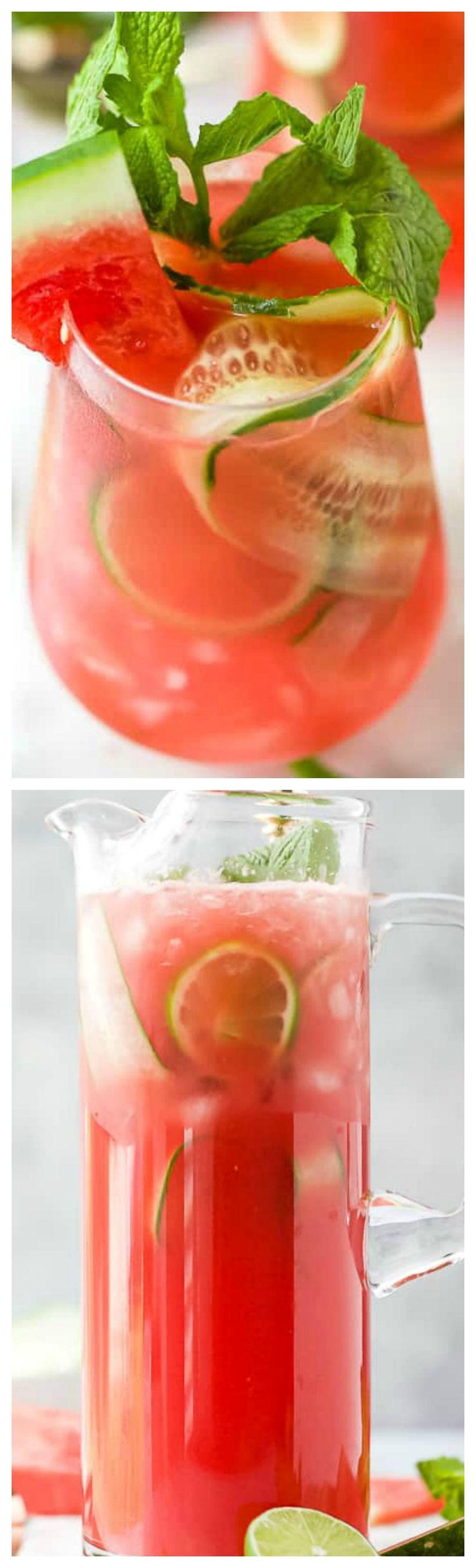 Refreshing Watermelon Cucumber Gin And Tonic Gin Cocktail Recipe Gin And Tonic Watermelon And Feta Gin Recipes
