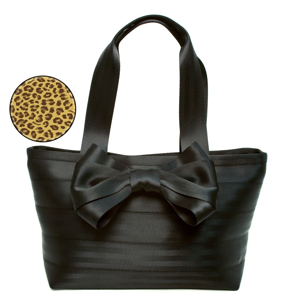 Harveys Seatbelt Bow Medium Tote Black Handbag Shoulder Bag On My Fossil Keyper Cross Body Calypso Wish List