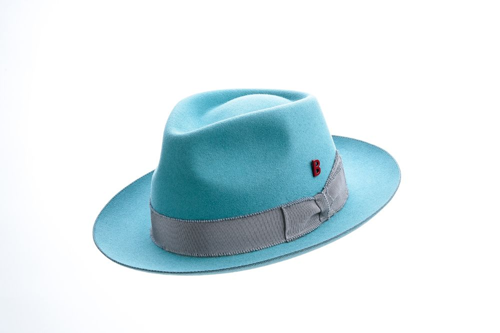 Knut Whip Turquoise & Mohair Grey
