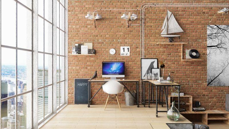 100 Modern Home Office Design Ideas Design Home Ideas Modern Modernofficedesignbrick Industrial Home Offices Industrial House Home Interior Design
