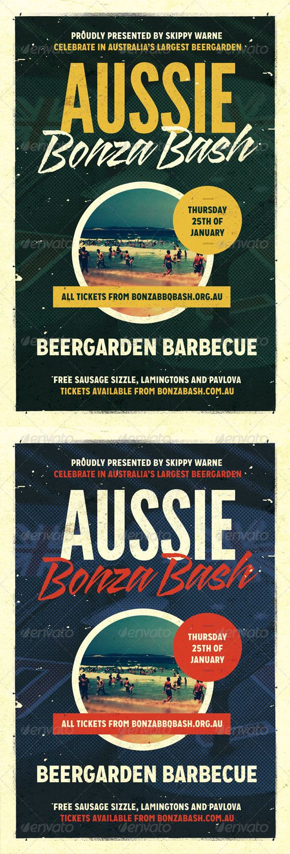 Bonza  Australia Day Flyer Template  Flyer Template Template