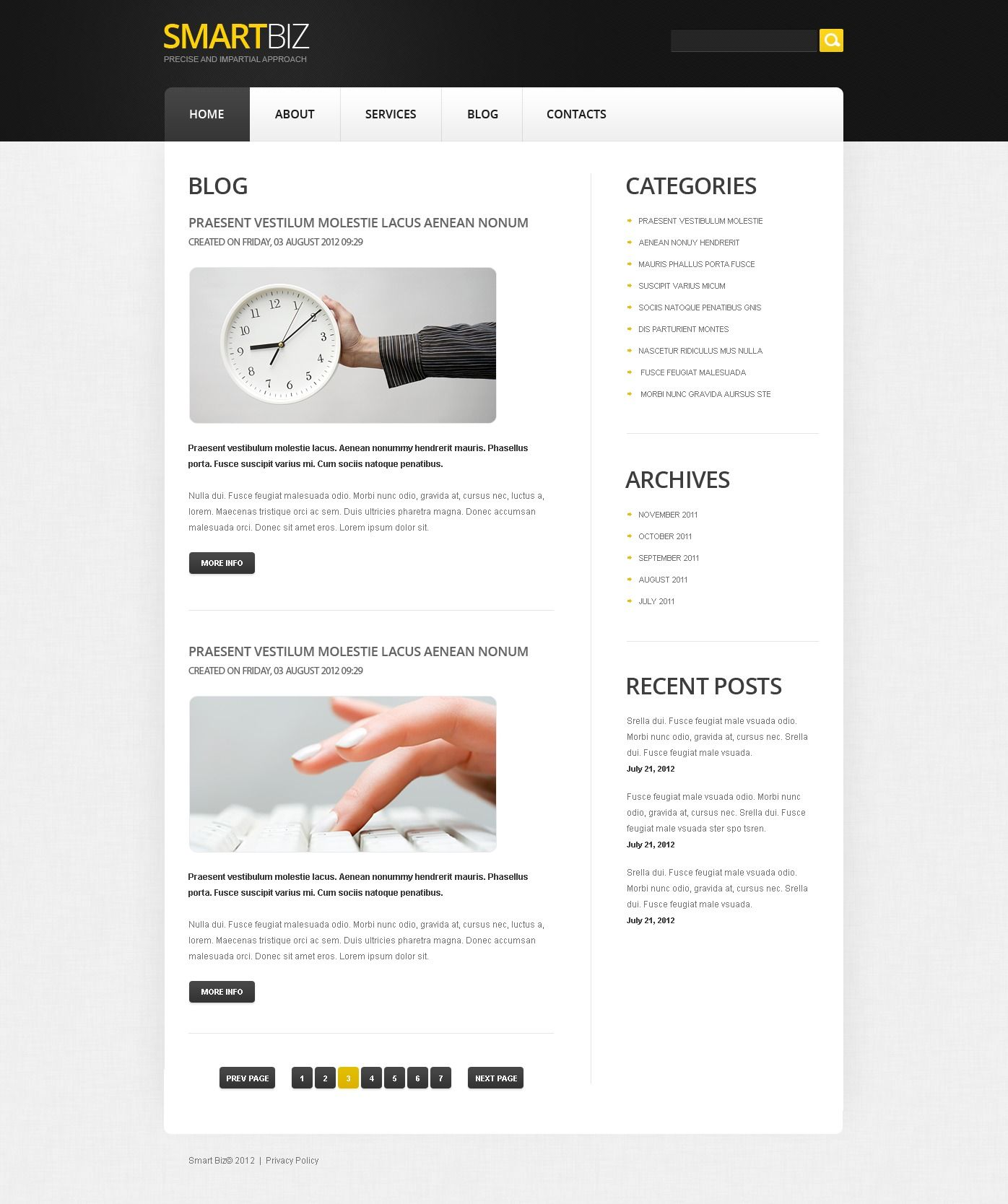 Free Joomla Business Template Freetemplatesonline Templates