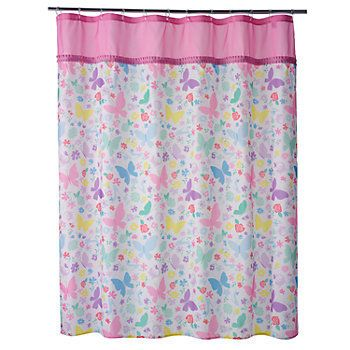 Disney Princess Butterfly Fabric Shower Curtain Fabric Shower