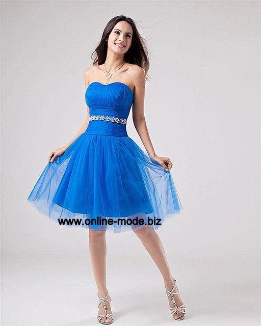 Party Kleid Abendkleid Kurz in Blau von www.online-mode.biz ...