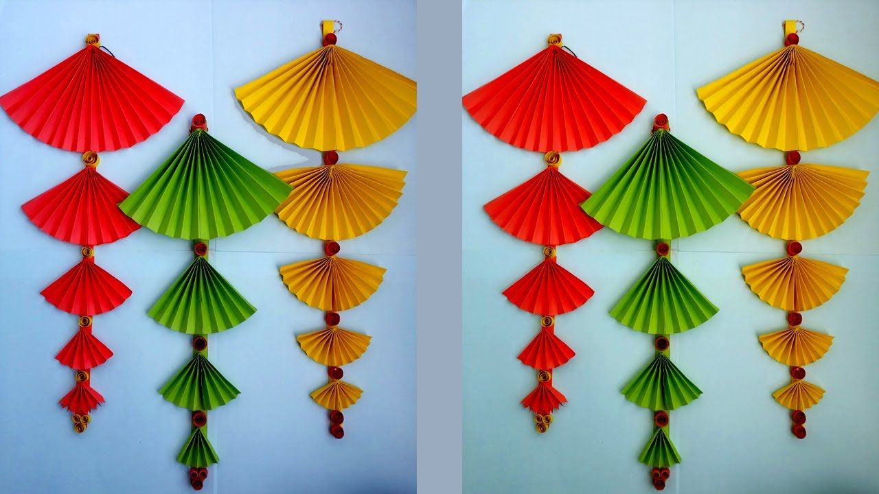 How To Make Paper Wall Hanging Very Easy And Simple Paper