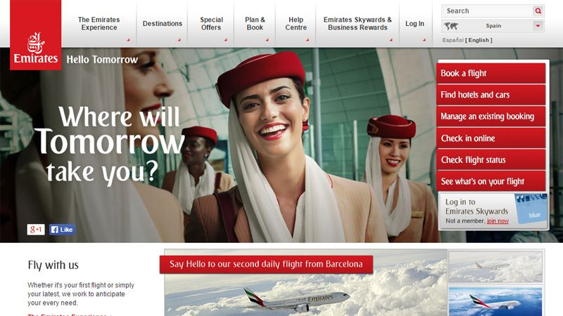 Airline Website Design The Best Examples Online checks