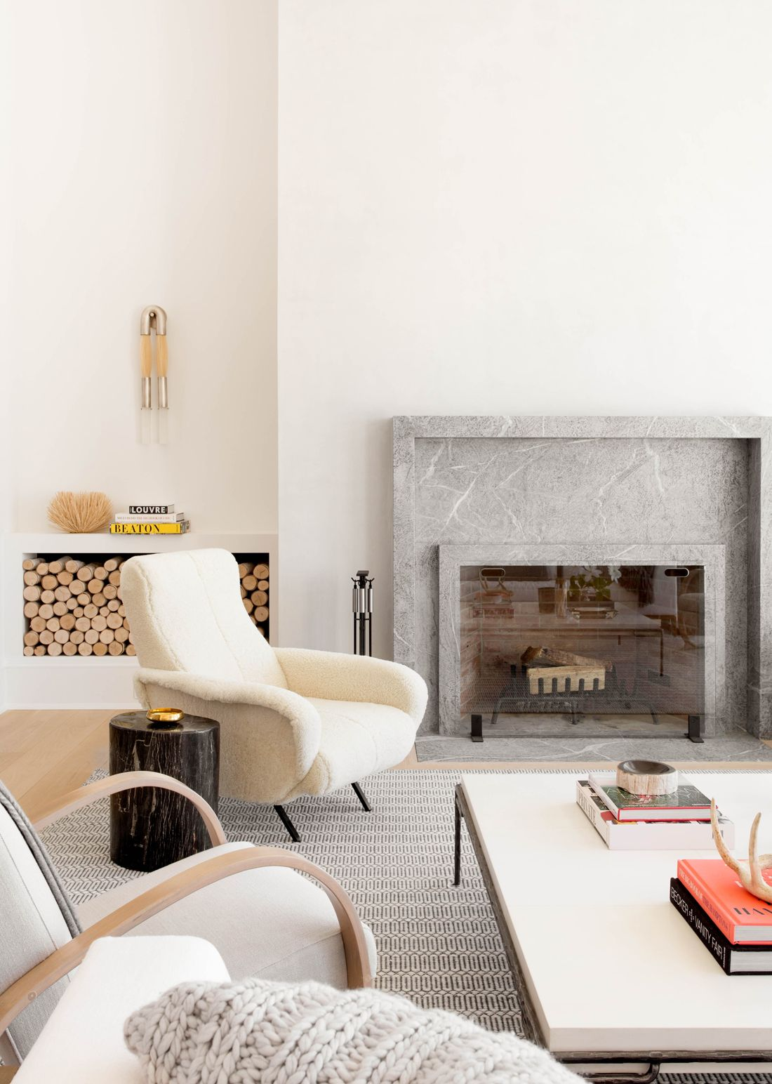Contemporary Fireplace by Tamara Magel Photo by Rikki Snyder