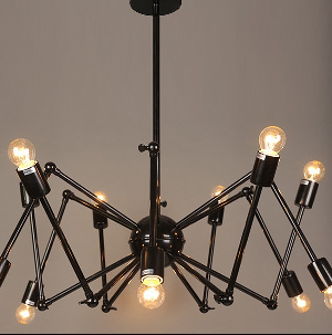 Large Industrial Compass Chandelier Rustic Brass Ceiling