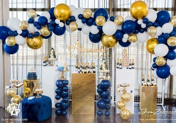 Amazing Blue And Gold Party Decor Inspiration Party