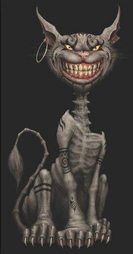 Evil Cheshire Cat Tattoo Tattoo Ideas Cheshire Cat Tattoo
