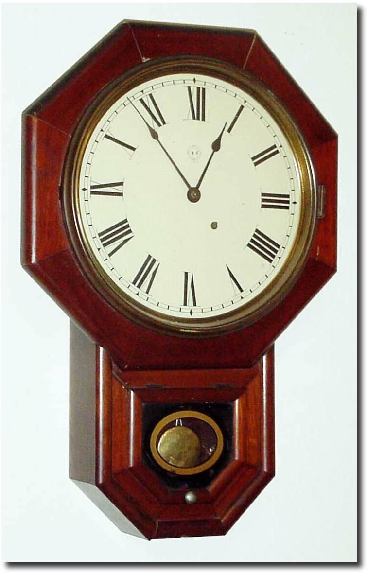 Seth Thomas Drop Octagon 12 Inch Antique Clock Vintage Clock Clock Antique Wall Clocks