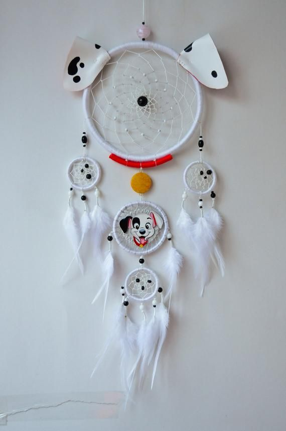 Dalmatian Inspired Fan Gift - Dream Catcher Wall Hanging - Birthday Gift Baby Nursery Children Room Decor