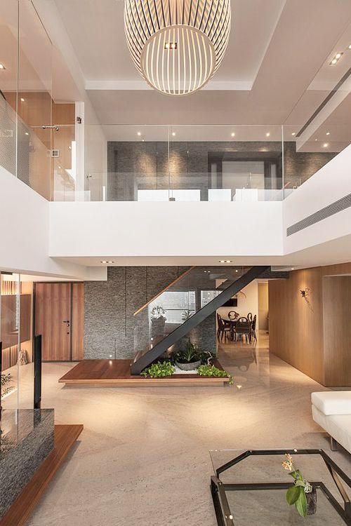 Stairs hangs from upper floor \u003d undisturbed ground floor space - hi tech loft wohnung loft dethier architecture