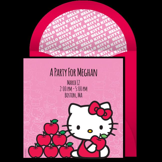 Free Hello Kitty Bow Invitations Birthday