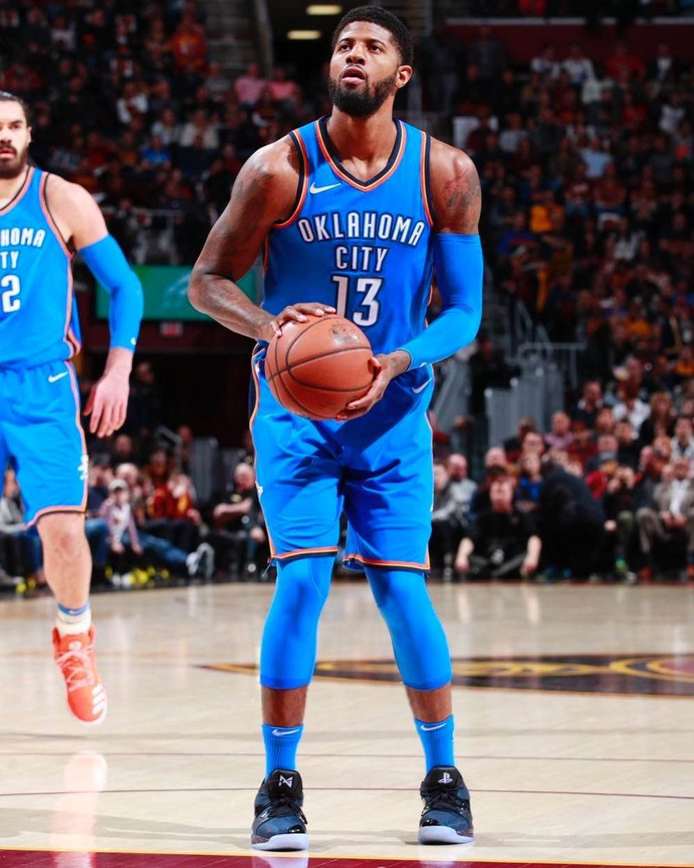 Image May Contain 1 Person Playing A Sport And Basketball Court Basketball Moves Paul George Paul George Okc