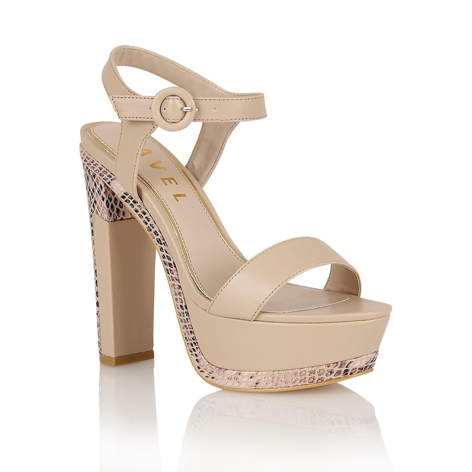 Ravel Sacramento ladies platform sandals, Nude