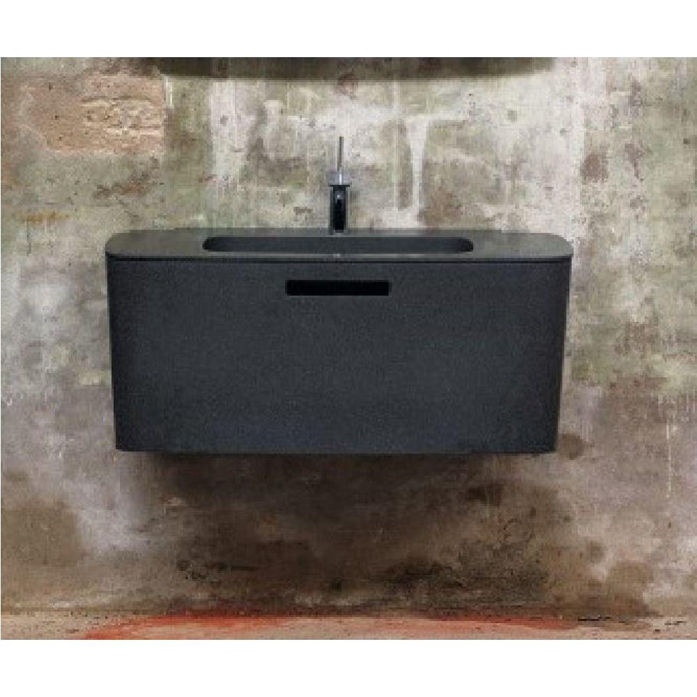 Bliss submarine wastafel incl onderkast incl lade en binnenlade solid surface 100x48x43cm 1 - Toilet wastafel ...