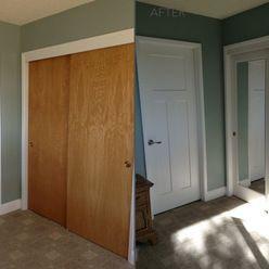 The Glenview Door And Mirror Impression Closet Door Completely Change The  Room. This Interior Door