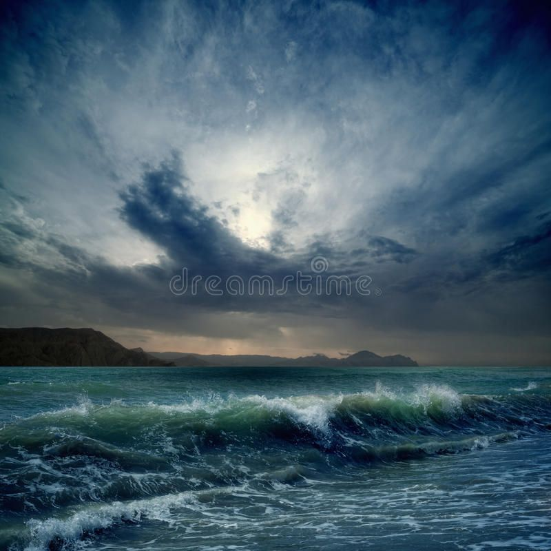 Stormy Sea Dramatic Landscape Dark Stormy Sky Sea Waves Mountains Sponsored Dramatic Landscape Stormy Sea Photography Stormy Sea Dark Stormy