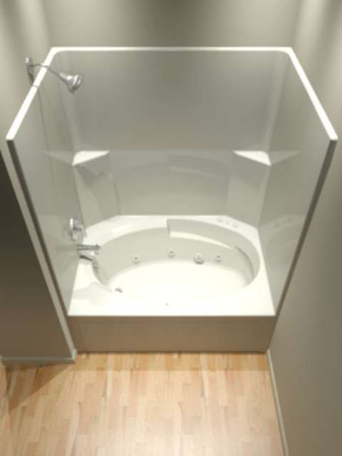 One Piece Tub and Shower Units bathroom Pinterest Shower