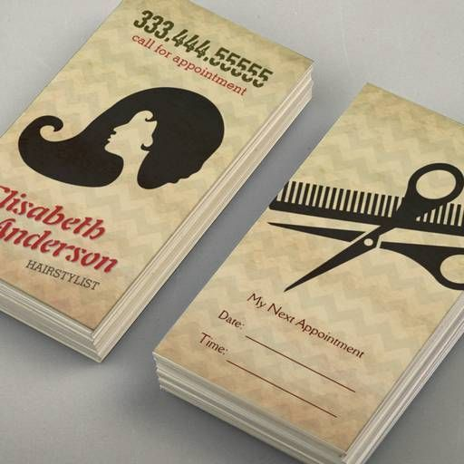 Hairstylist Beauty Salon Appointment Reminder Card Business Card ...