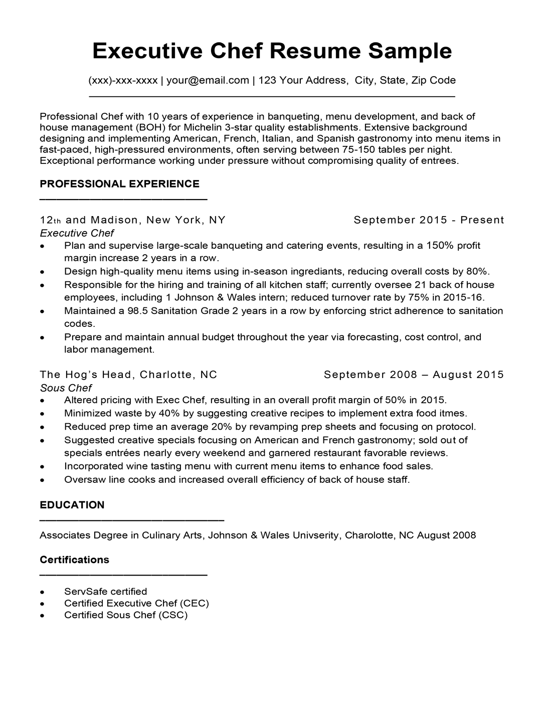 Writing culinary resume is not that difficult as you are