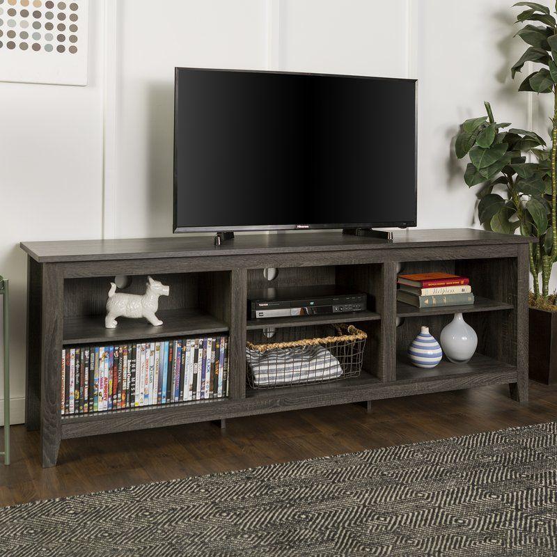 WE Furniture AZ70JACSDSG TV Stand 70 Slate Grey
