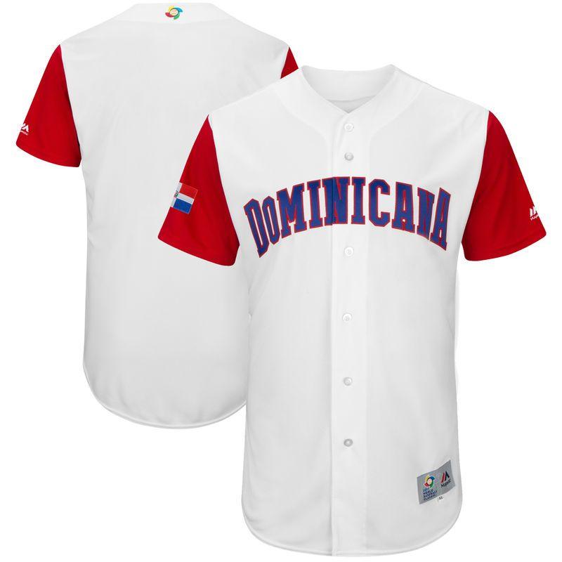 909c3e599 Dominican Republic Baseball Majestic 2017 World Baseball Classic Authentic Team  Jersey - White