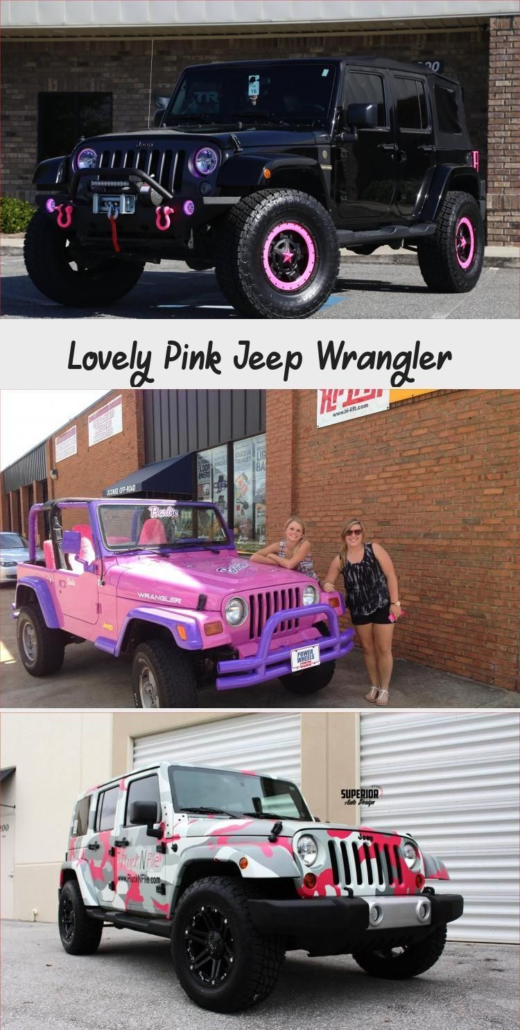 Lovely Pink Jeep Wrangler CAR Car Jeep lovely Pink